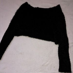 Crop top sweater long sleeve.
